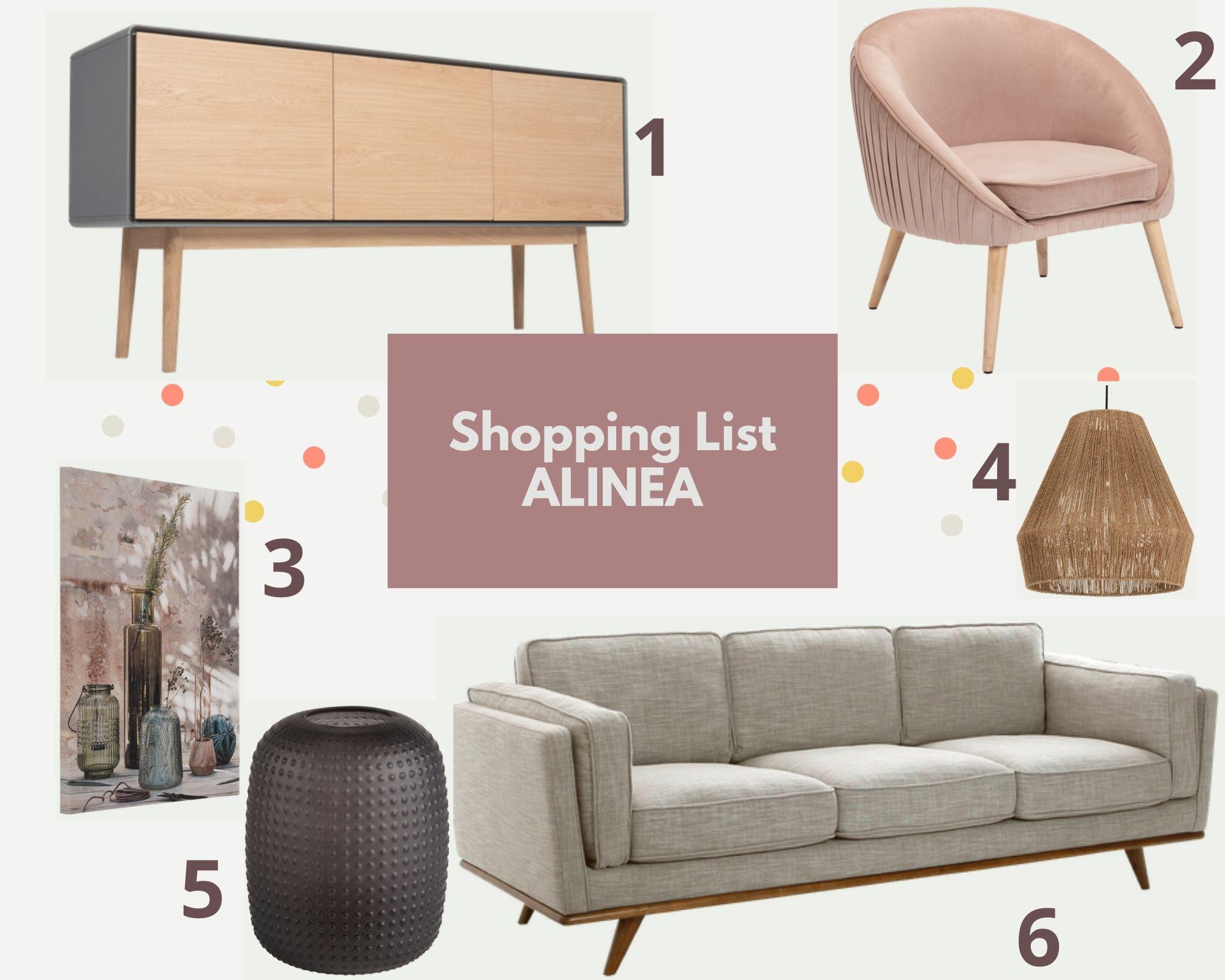 Shopping list alinea